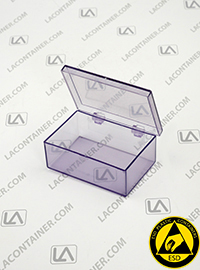 Laboxx 291910-BAS Blue Static Dissipative ESD Plastic Boxes